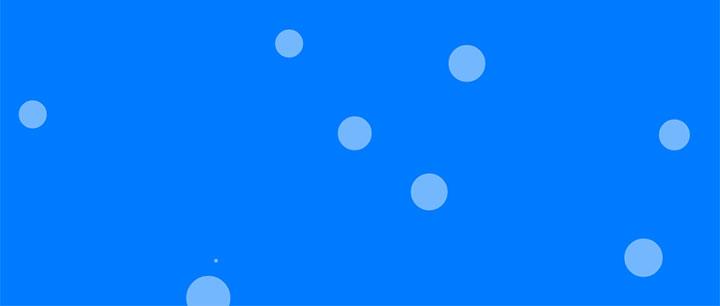 html5 canvas透明气泡网页背景动画特效-一天源码