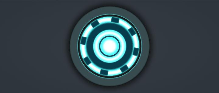 css3绘制钢铁侠心脏能量圈动画特效-一天源码