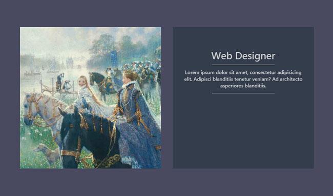 图片向上3D翻转渐隐淡出CSS3特效-一天源码